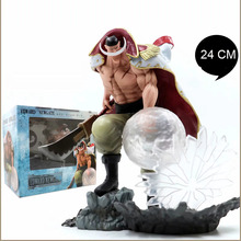 24 CM One Piece Action Figure WHITE BEARD Pirates Edward Newgate PVC Onepiece SCultures the TAG team Anime Figure Toys Japanese new anime one piece kaido four emperors edward newgate white beard big mom 24cm pvc action figure model doll toys in boxed