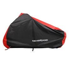 Cubiertas impermeables para motocicleta 190T, color negro y rojo, para exteriores, interiores, motores de motocicleta, protección UV contra polvo y lluvia