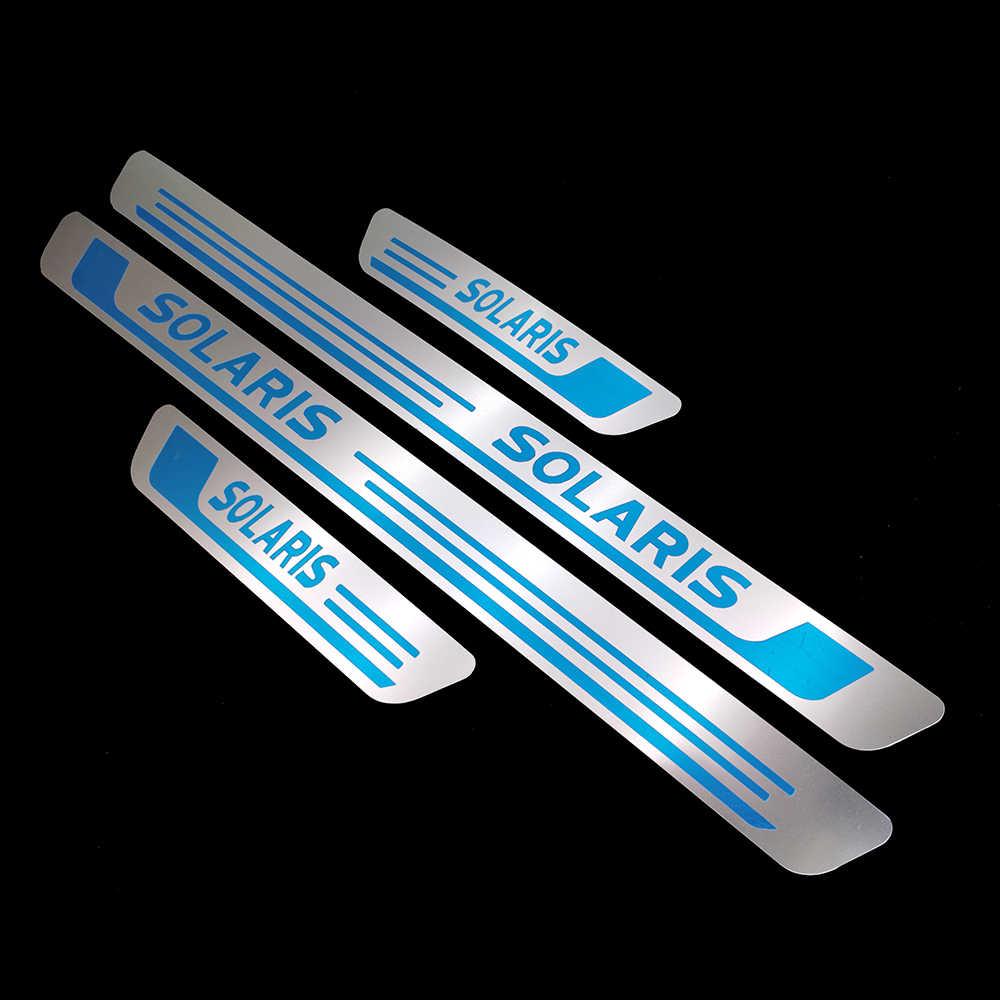 Dành Cho Miếng Dán Cho Xe Hơi Hyundai Solaris Phụ Kiện Thép Gắn Cửa Bàn Đạp Bảo Vệ Tự Động Tạo Kiểu 2011 2012 2013 2014 2015 2016 2019 2020