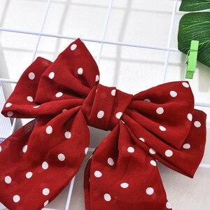Neue Frauen Feste Scrunchies Polka Stoff Stoff Haarnadeln Bogen Haar Seil Mädchen Haar Krawatten Koreanische Haar Zubehör Headwear