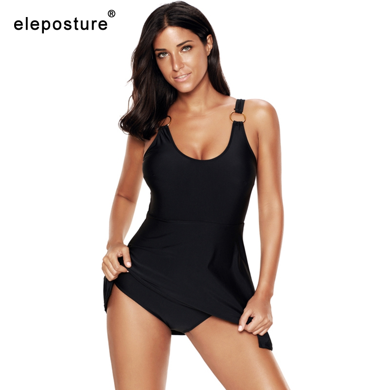 2019 Retro <font><b>Plus</b></font> <font><b>Size</b></font> Swimwear Women <font><b>One</b></font> <font><b>Piece</b></font> Swimsuit Female Large <font><b>Size</b></font> <font><b>Bathing</b></font> <font><b>Suits</b></font> <font><b>Skirt</b></font> Summer Beach Wear Swimming <font><b>Suit</b></font> 5XL image
