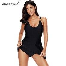 2020 Retro Plus Size Badmode Vrouwen Een Stuk Badpak Vrouwelijke Grote Size Badpakken Rok Zomer Strand Dragen Zwemmen Pak 5XL