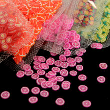 10g Fruit Nail Art Resin Decorations 3D Slices Strawberry Lemonade Design for Acrylic Nails Neon Summer Accessories Supplies