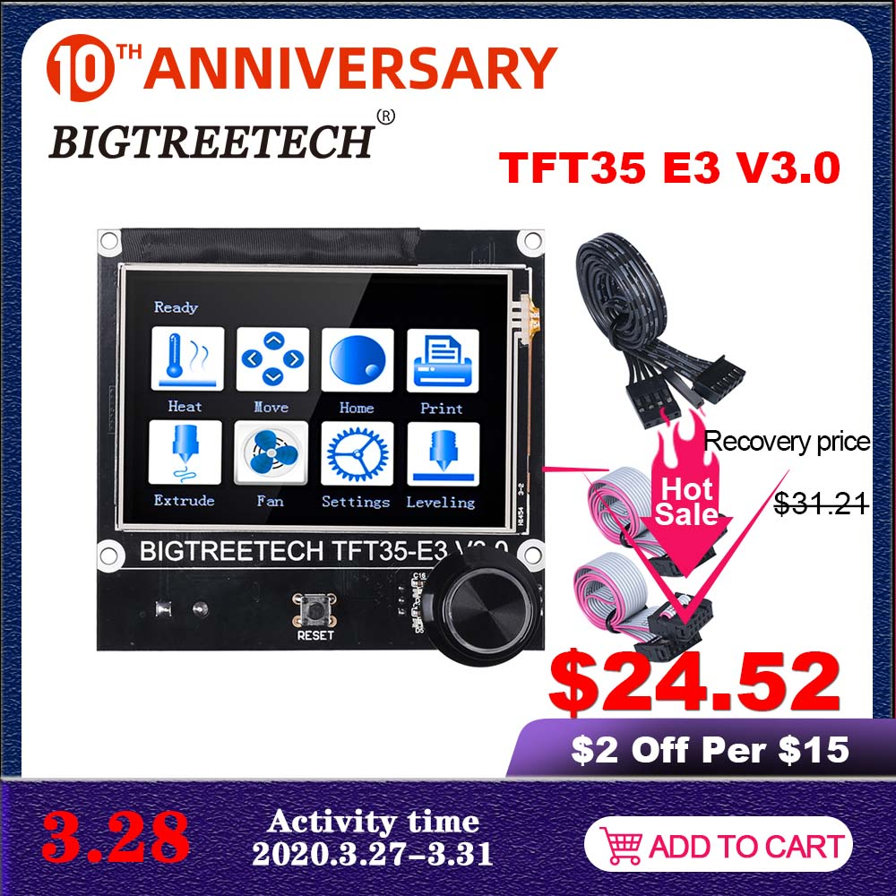 BIGTREETECH TFT35 E3 V3.0 Touch Screen 12864 LCD Display WIFI Module 3D Printer Parts For Ender3 CR10 SKR Mini E3 SKR V1.3