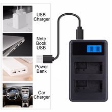 LCD Display PC Power Bank Car USB Dual Camera Battery Dock Charger for Canon NB-6L NB-12L LP-E6 E6N LP-E8 LP-E10 LP-E12 LP-E17(China)