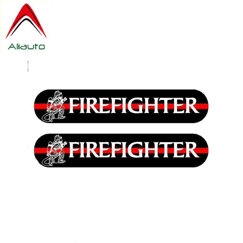 Aliauto 2 <font><b>X</b></font> Funny Car <font><b>Stickers</b></font> A Fireman Reflective Waterproof Anti-UV Automobiles & <font><b>Motorcycles</b></font> Accessories PVC Decal,13cm*2cm image