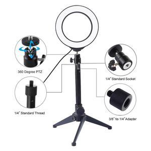 Image 2 - 12/16センチメートルusb調光対応led selfieリングライトyoutubeの写真スタジオ電話ビデオとミニ三脚ライブストリーミングリングランプ