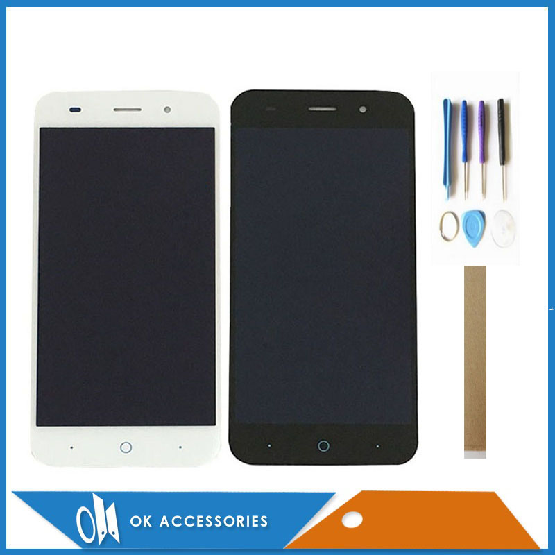5.0 Inch For <font><b>ZTE</b></font> Blade Z7 X7 V6 D6 <font><b>T660</b></font> T663 LCD Display Touch Screen Digitizer Assembly Black White Color With Tools Tape image