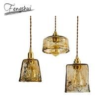 Modern Nordic Copper Pendant Lights Lamp Glass Pendant Lighting Living Room Kitchen Bedroom Bar Dining Room Loft Hanging Lamp цена