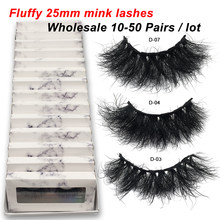 Red Siren 10-50 Pairs Pluizige 25Mm Mink Wimpers Groothandel Mink Wimpers Met Doos Dikke Lange Fake Eyelasehs make Up Wimpers Bulk(China)