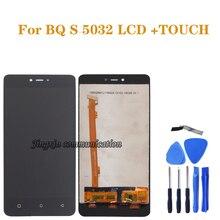 สำหรับ BQ S5032 จอแสดงผล LCD Touch Screen Digitizer ส่วนประกอบสำหรับ BQ 5032 BQS 5032 BQS 5032 จอ LCD อะไหล่ซ่อม