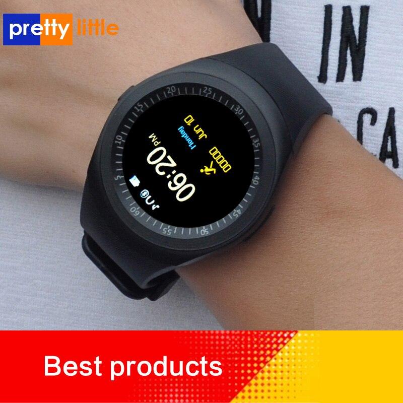 Smart watch homens android com tela de toque de fitness rastreador cartão sim smartwatch relógio com whatsapp Facebook y1 pk v8