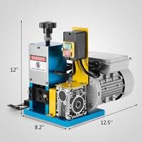 Ev Aletleri'ten Giysi Buhar Makinesi Parçaları'de 220V Powered elektrikli tel sıyırma makinesi kablo Stripper otomatik soyucu
