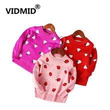 Knitted Sweaters Strawberry Girls Kids Cotton Cartoon Cute 13 VIDMID 7123