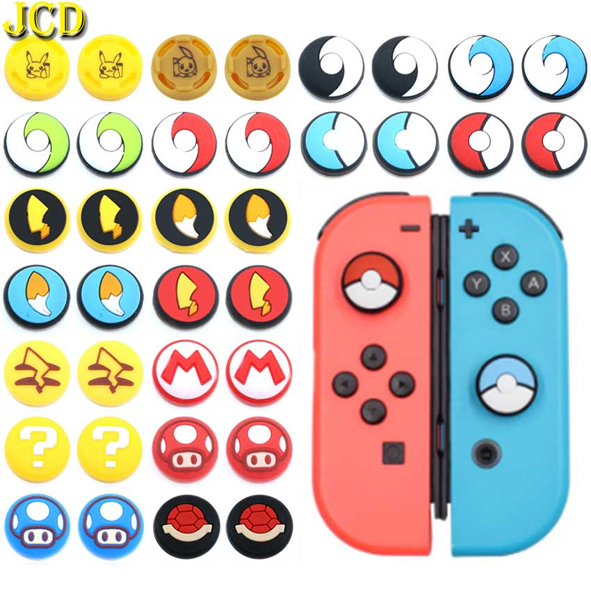 JCD 2PCS Silicone Joystick Thumb Stick Grip Cover Case For Joy Con Analog Caps For Nintend Switch NS Joy-Con Controller