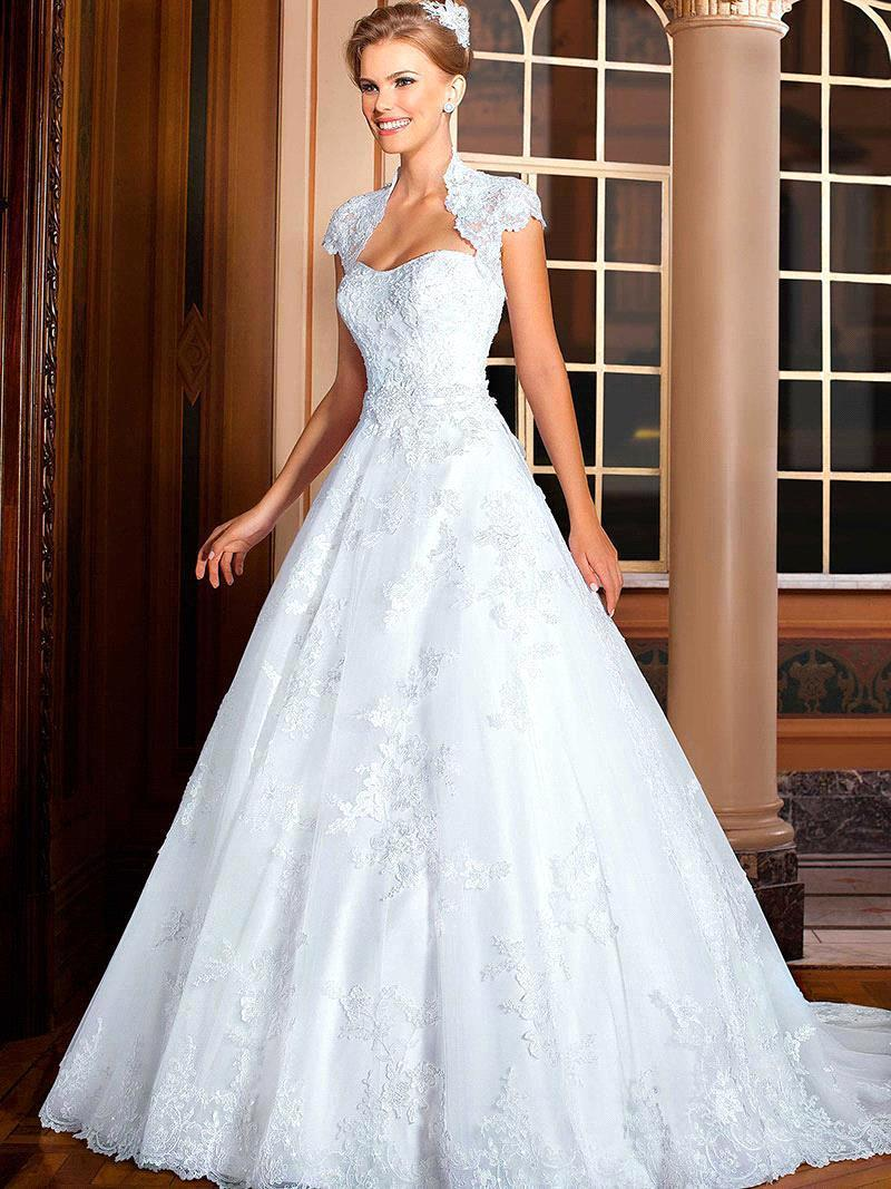 Vestido De Noiva 2018 Fashion Princess Lace Beaded Bridal Gown With Bolero Plus Robe De Mariage Mother Of The Bride Dresses