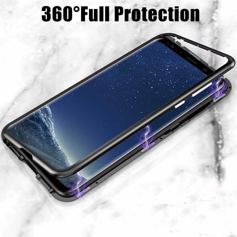 Funda de Metal de adsorción magnética para Samsung Galaxy S20, S10, S8, S9 Plus, S10 Lite, S7 Edge, Note 8, 9, 10, A50, A51, A70, A71, A50S, A10