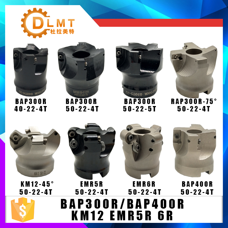 BAP400R BAP300R EMR5R EMRW6R KM12 RAP300R 40 50 22 4T 5T 6TMilling Holder For Milling Cutter Machine
