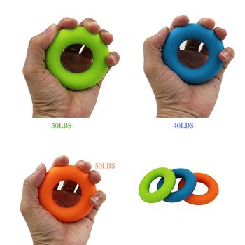 Ręczny trening siłowy pierścień wygodny uchwyt silikonowy pierścień ręczny trening siłowy rekwizyty czas wolny sport zabawki do ściskania tanie i dobre opinie 12 + y 18 + CN (pochodzenie) Hand grip Do rozwijania umiejętności chwytania poruszania się 2 7*1 3*0 7inch Circle BOKS