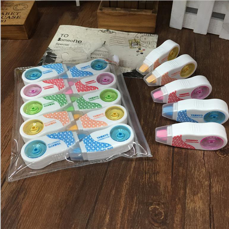 10pcs/lot 5mm*6m Stationery Correction Tape Korektor School Supplies Papeleria Cinta Correctora Papelaria Material Escolar 00216