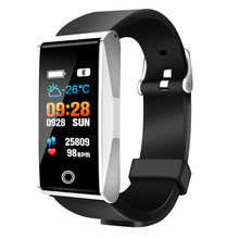 B2 Smart Wristband Watch Activity Tracker Watches Blood Pressure Health Pulsometer Sport Smartband Fitness Bracelet (Silver Whit(China)