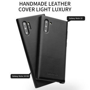 Image 3 - QIALINO Fashion Genuine Leather Case for Samsung Galaxy Note 10 Ultra Thin Handmade Phone Cover for Samsung Galaxy Note 10 Plus