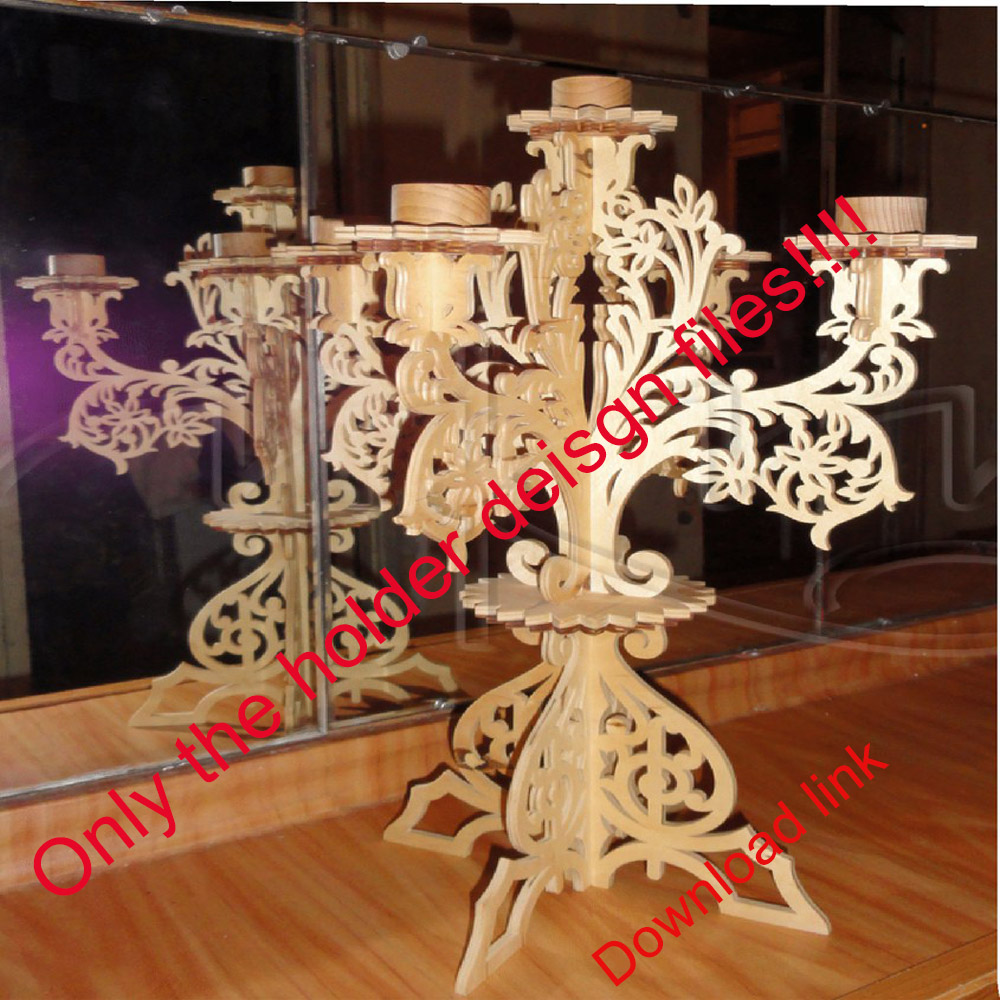 12 Files, Tealight Kindle Holder Stands Cdr Dxf Format Vector Design Drawing Files For CNC Laser Cutting Files