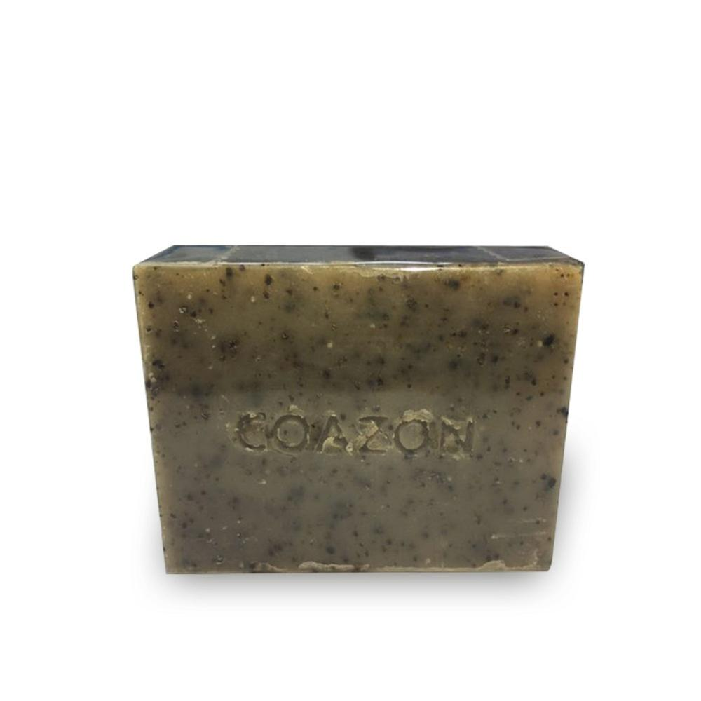Handmade Pure Coffee Scrub Soap Whitening Anti-freckle Soap Face Care Wash Basis Soap Deep Cleaning