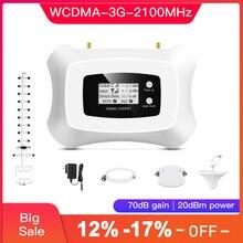 Tam akıllı LCD ekran 3G mobil sinyal güçlendirici 2100mhz WCDMA tekrarlayıcı 3g hücresel amplifikatör 3G sinyal amplifikatörü kiti
