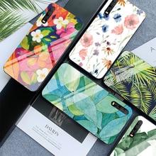 Flower Phone Case For Huawei P30 P20 MATE 20 Lite Tempered Glass Cases for Huawei P smart Z Honor 9 10 Lite 8X Max Nova 3 Fundas цены