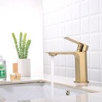 New design brushed gold bathroom shower basin wash water faucet