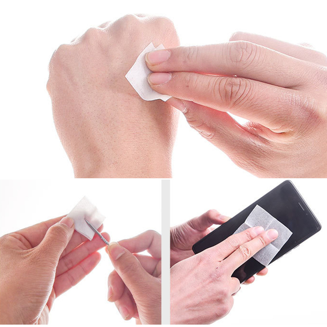 50/100 Pcs Alcohol Wet Wipe Disposable Disinfection Prep Swap Pad Antiseptic Skin Cleansing Care Wipe Portable Healthy Care 2