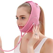 Diving Cloth V Face Cheek Breathable Anti Wrinkle Firming Belt Mask Lift Up Band Sleeping Bandage