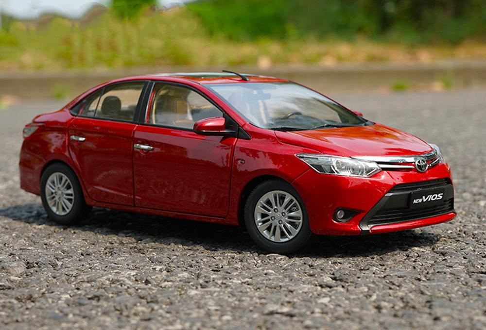 1/18 Scale TOYOTA VIOS 2013 Red Diecast Car Model Toy Collection Gift NIB NEW
