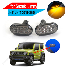 2 قطعة سيارة الجانب ماركر ضوء 8 مصباح إشارة الانعطاف LED مصباح لسوزوكي جيمني JB64 JB64W JB74 JB74W 2018 2020 مؤشر مصباح إشارة