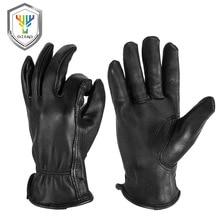 OZERO nouveau homme travail gants soudage travail gants peau de daim cuir sécurité protection jardin MOTO résistant à lusure gants 8003