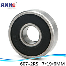 (1pcs) High quality deep groove ball bearing double rubber sealing cover 607-2RS 7*19*6 mm цена 2017