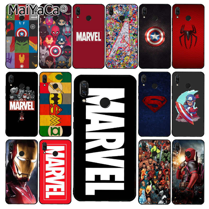 Maiyaca Deadpool Iron Man Marvel Avengers Phone Case untuk Xiaomi Redmi8 4X 6A S2 Pergi Redmi 5Plus Note5 7 Note8Pro