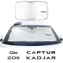 שמשה קדמית מכונית שמשייה שמשייה עבור רנו Captur Kadjar קליאו מגאן סניק זואי אוטומטי חלון Sunshield כיסוי אבזרים