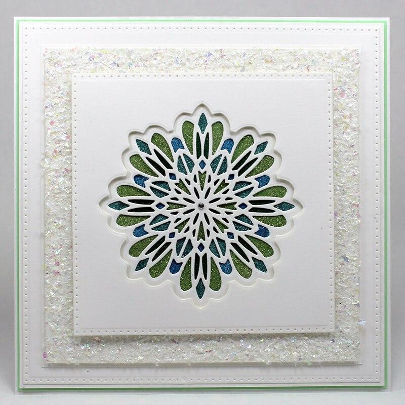 Multi Layered Floral Frame Dies Cut Flower Metal Cutting Dies Stamp For Scrapbooking Diy Embossing Paper Card Making