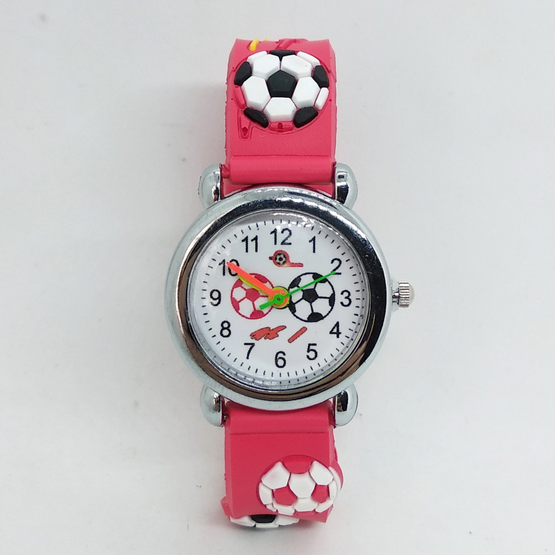 New Cartoon Fashion Silicone Football Children Watch Kids Watches Girls Boys Student Quartz Wristwatches Relogio Kol Saati Clock