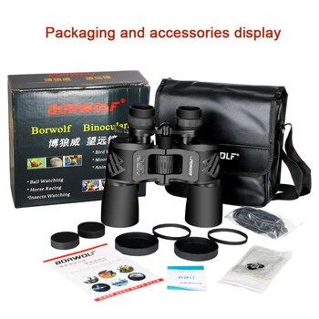 Borwolf 10-30X50 High Magnification HD Professional Zoom powerful Binoculars Light night vision for hunting telescope monocular 6