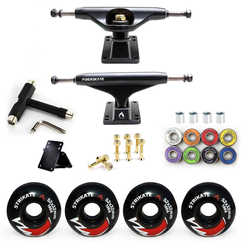5232mm Wheels 100A Aluminum Magnesium Alloy Professional Bridge Skate Board Bracket 5in Skateboard Trucks
