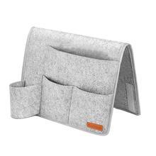 1 Pcs Felt Bedside Storage Pocket Hanging Organizer Bag Bed Desk Sofa TV Remote Control Couch Holder Pockets
