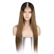 PAFF Brazilian 1B 27 Color Silky Straight U Part Human Hair Wigs  Ombre Remy Shape Middle Par 1*3 Free Shipping