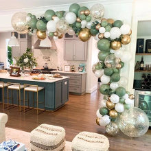 Ballons Vintage en Latex, 119 pièces, guirlande en arc, Kit pour enfants, décorations pour fête d'anniversaire, fête prénatale, mariage
