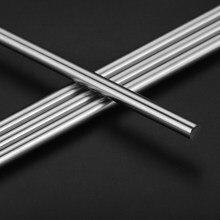 Axe linéaire chromé pour imprimante 3d, 2 pièces, 6mm, 8mm, 10mm, 12mm, 16mm, 8mm, 500mm, cylindre, tiges de revêtement