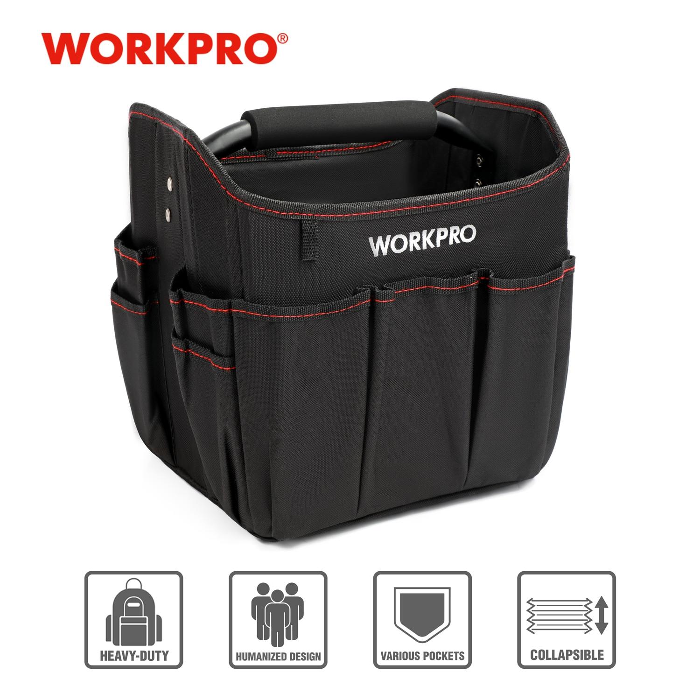 """WORKPRO 10"""" Small Tool Hand Bag Foldable Tool Kits Bag Shoulder Bag Handbag Tool Organizer Storage Bag"""