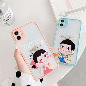 Милый Японский складной чехол-подставка Peko Milky Girl Poko для телефона iPhone X XS MAX XR 7 8 Plus 11 Pro Max, мягкий держатель-накладка