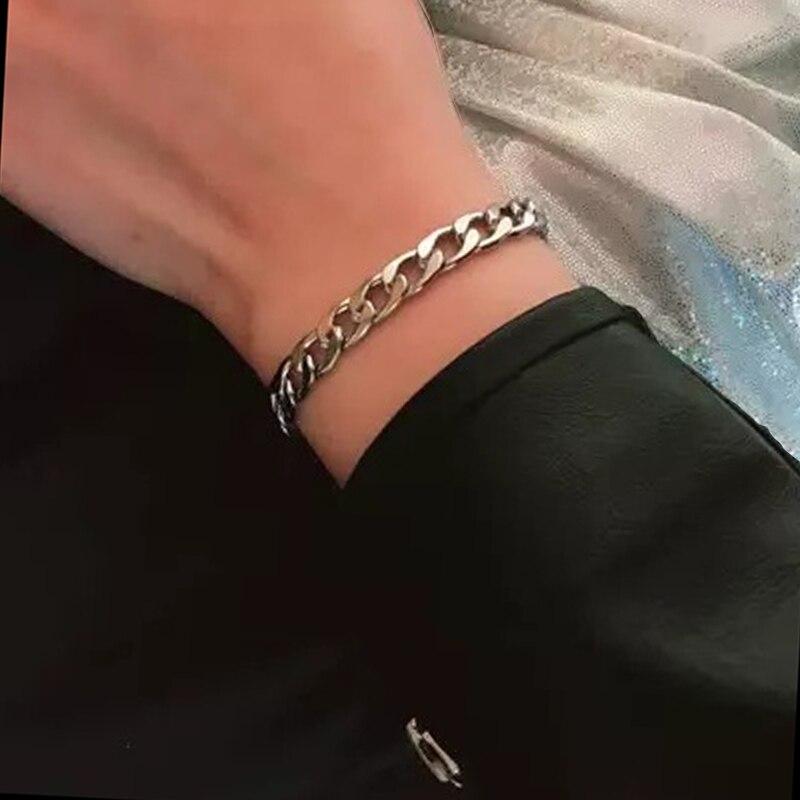 oulai777 Wholesale stainless steel chain on hand for mens bracelet 2019 cuban link bracelets men accessories Women's bracelet